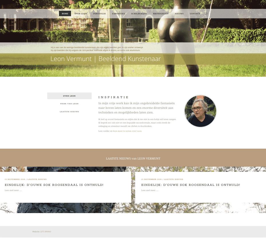 nieuwe website leon vermunt ontwikkeld door LETS BRAND